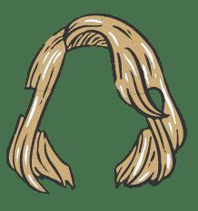 Icône représentant des cheveux blonds.