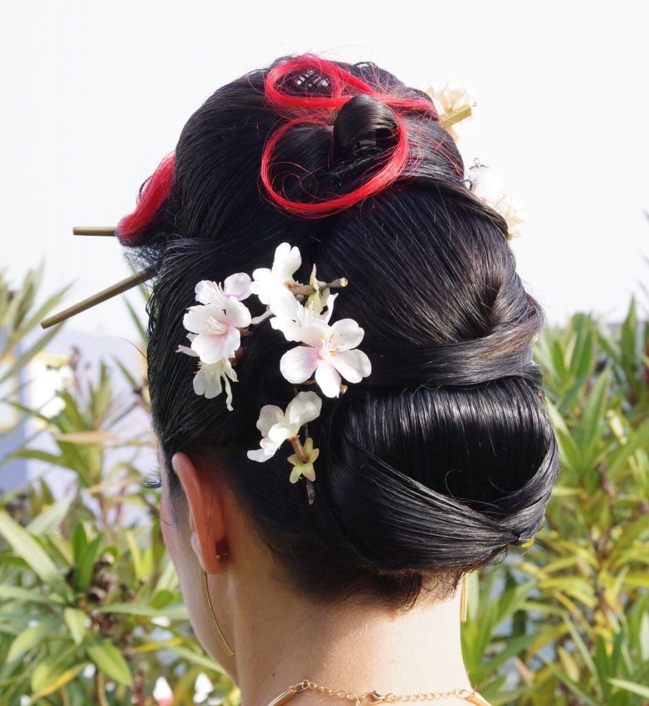 Une coiffure réalisé par Séverine, lors d'un concours.