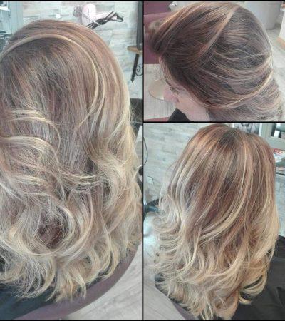 Cheveux blonds mêchés